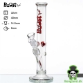 Bong Boost Cane Red Glass Bong H:32 Ø:40mm slamrør:14,5mm