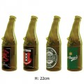 Bong Beer Bottle Glass H:22cm
