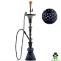 Black Hookah with one hose- H:92cm