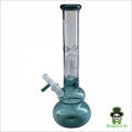 "Bong ""Black leaf GREEN Percolater"" H:30 cm Ø:40mm Slamrør 14,5mm"