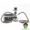 Shisha Black 25cm, two hose i box
